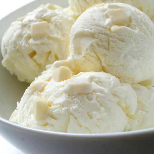 Weiße Schokolade Eis